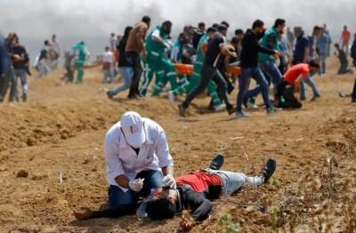 إصابات-بغزة-جراء-استهداف-الاحتلال-لفعاليات-العودة